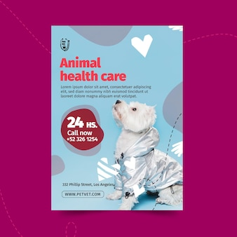 Pet veterinaire flyer-sjabloon