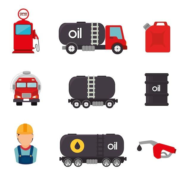 Petroleum ontwerp.