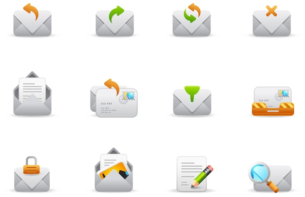 Philos icons - set 7 | emails
