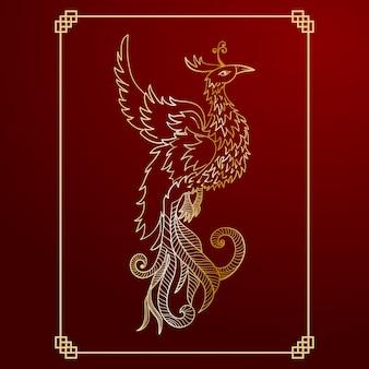 Phoenix achtergrond ontwerp