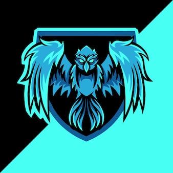 Phoenix esport mascotte logo
