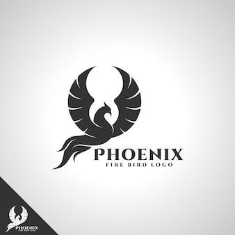 Phoenix - fire bird-logo