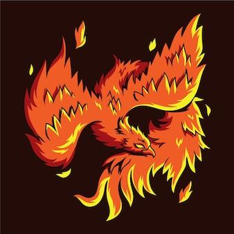 Phoenix hand getrokken