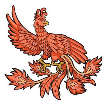 Phoenix handgetekende concept