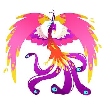 Phoenix handgetekende illustratie
