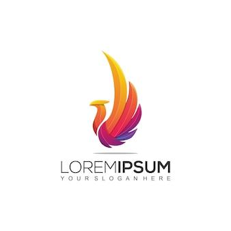 Phoenix kleurrijk logo-sjabloon