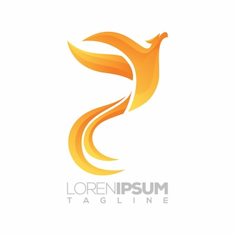 Phoenix logo, 3d, illustratie