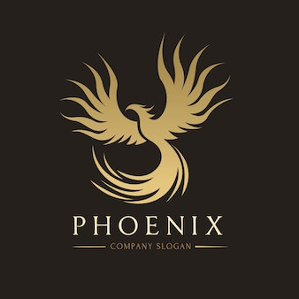 Phoenix logo, eagle en vogel logo symbool. vector logo sjabloon.