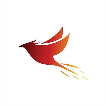 Phoenix logo eenvoudige vliegende vogel