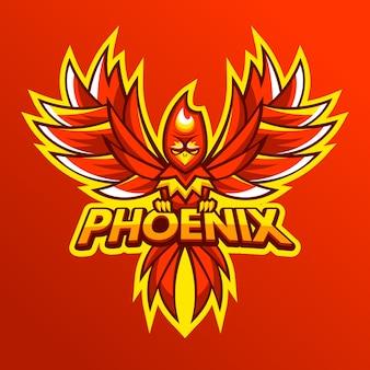 Phoenix logo hand getrokken ontwerp
