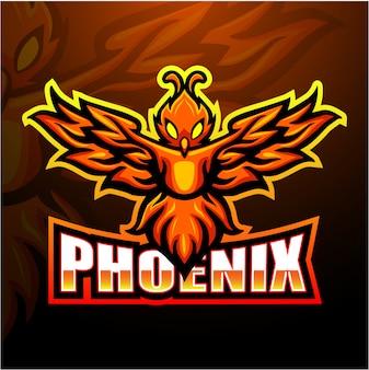 Phoenix mascotte esport illustratie