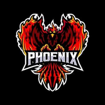Phoenix met vlam vleugels illustratie