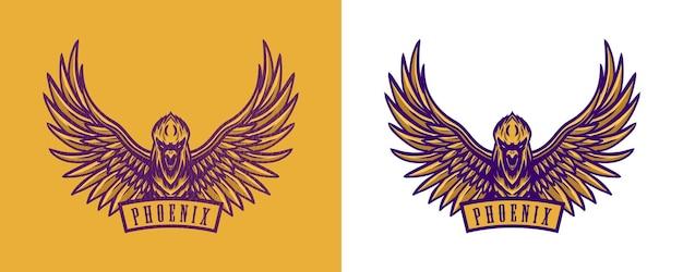 Phoenix ontwerp voor t-shirt