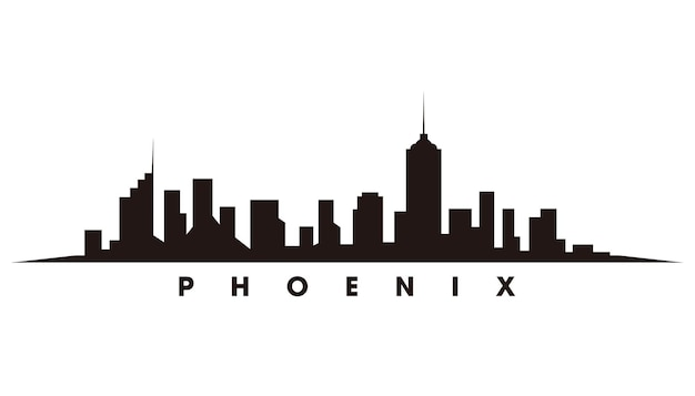 Phoenix skyline silhouet vector