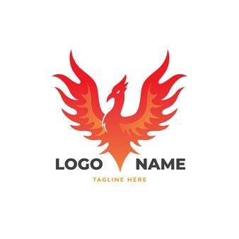 Phoenix vogel logo sjabloon