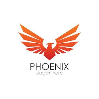 Phoenix wings logo template