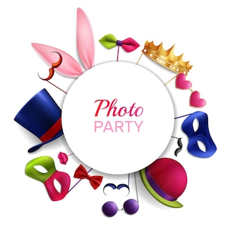 Photo booth party round samenstelling