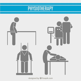Physiotheraphy pictogram collectie