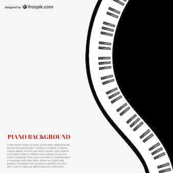 Piano achtergrond sjabloon