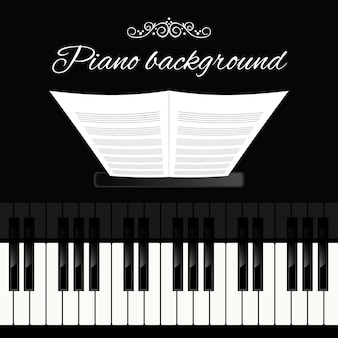 Piano achtergrond