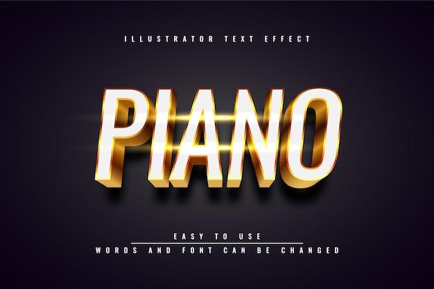 Piano - bewerkbaar teksteffectontwerp