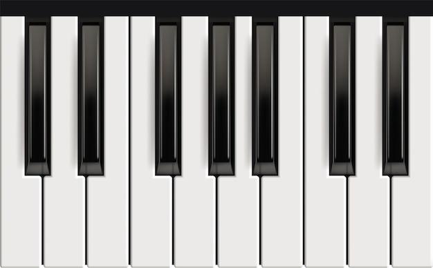 Piano toetsen. realistisch muziekinstrument