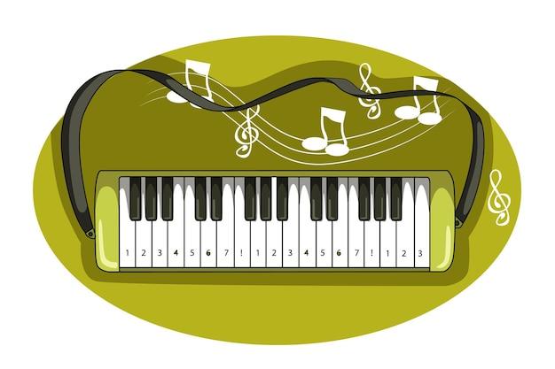 Pianomuziek festival vector