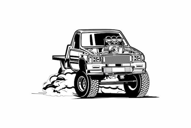 Pick-up truck drift