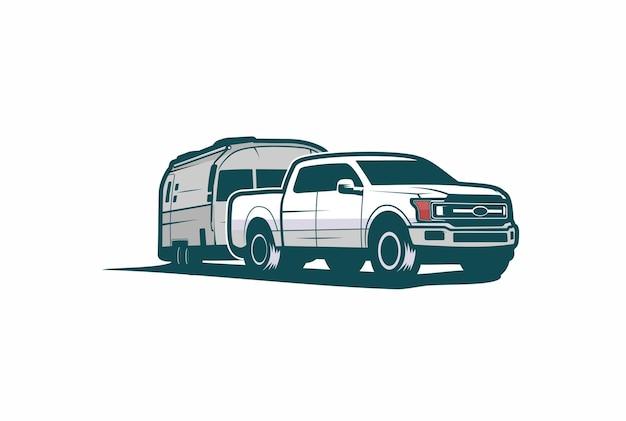 Pick-up truck illustratie
