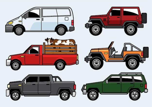 Pick-up truck set