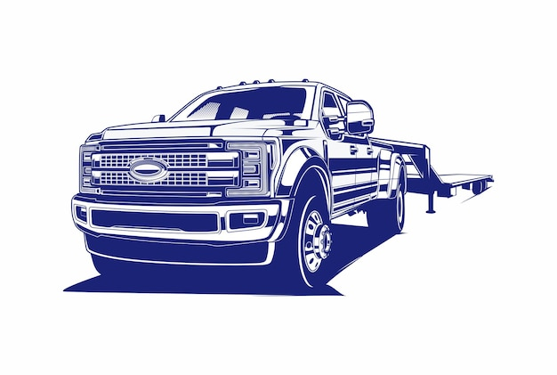 Pick-up truck silhouet