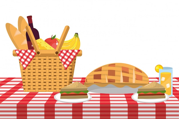 Picknick eten cartoon