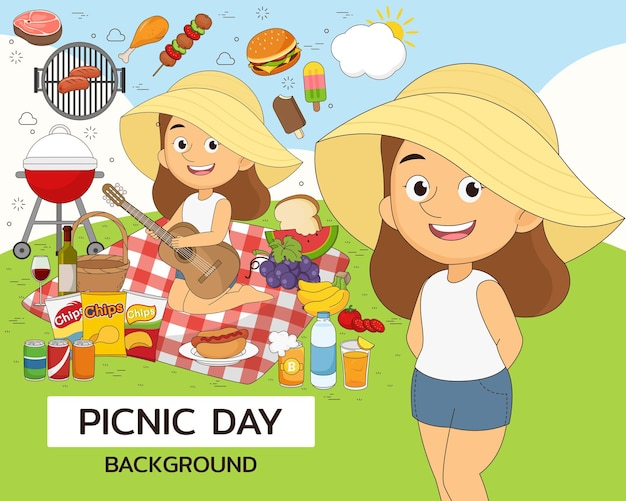 Picknickdag illustratie