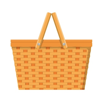 Picknickmand geïsoleerd pictogram
