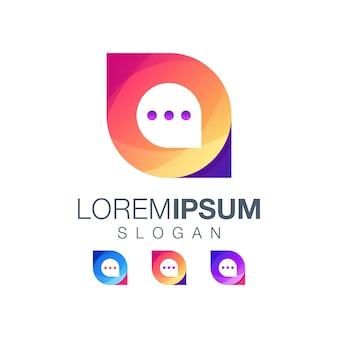 Pictogram chat logo