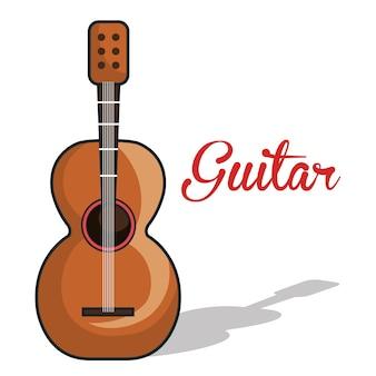 Pictogram gitaar mexicaanse muziekafbeelding