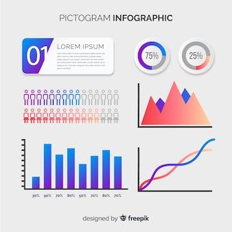 Pictogram infographic
