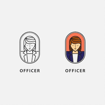 Pictogram karakter van officier