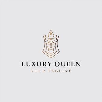 Pictogram logo van luxe koningin