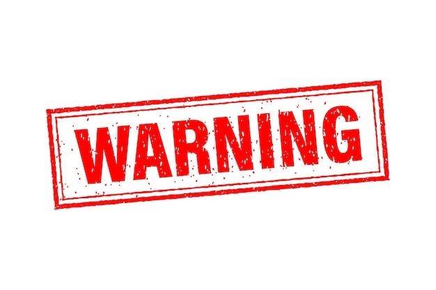 Pictogram met rode waarschuwingsstempel