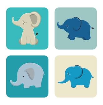 Pictogram olifant ontwerp geïsoleerd