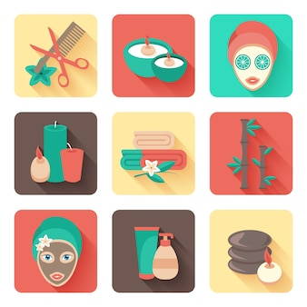 Pictogram ontspanning platte sociale behandeling