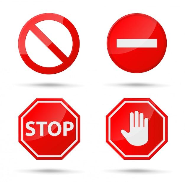 Pictogram stopbord meldingen die niets doen.