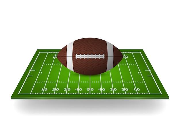 Pictogram van voetbal op veld.