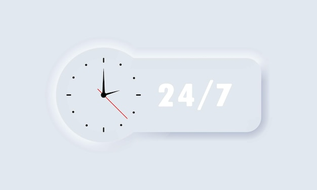 Pictogram voor 24-7 service