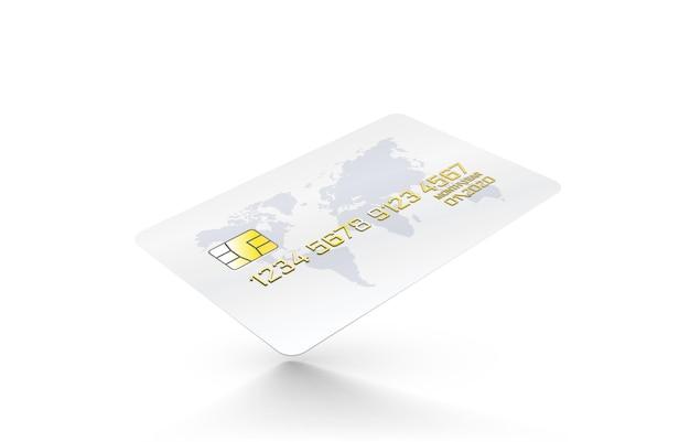 Pictogram voor elektronische creditcard, financiële technologie, geïsoleerd op wit.