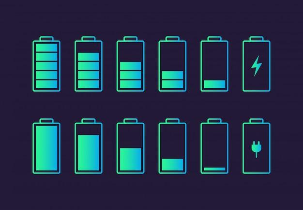 Pictogram voor het opladen van de batterij.