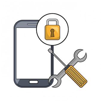 Pictogram voor smartphone-technologie-instellingen