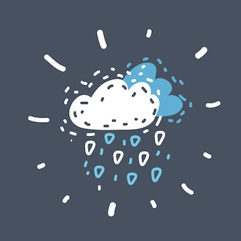 Pictogram voor wolkenbliksem en hagel