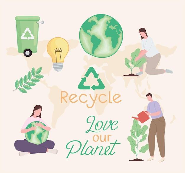 Pictogramgroep recyclen